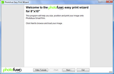 Photofuse Easy Print Wizard Step 1